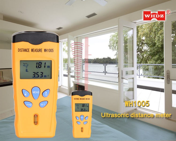 Ultrasonic Distance Meter WH1005 with laser distance sensor 18m