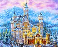 Wall Art Home Decor Beautiful Fairy Tale Castle DIY Pictures On Canvas Oil Painting