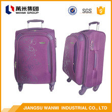 TSA lock 20 and 22 inch purple spinner soft luggage