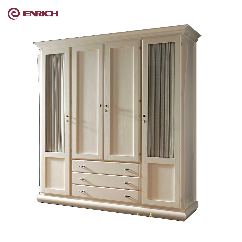 Latest excellent <strong>design</strong> shaker <strong>style</strong> wooden bedroom clothes wardrobe from China factory