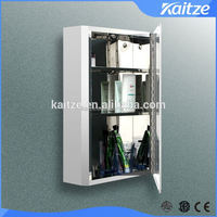 high class wall SS bathroom cabinet with mirror and shelf