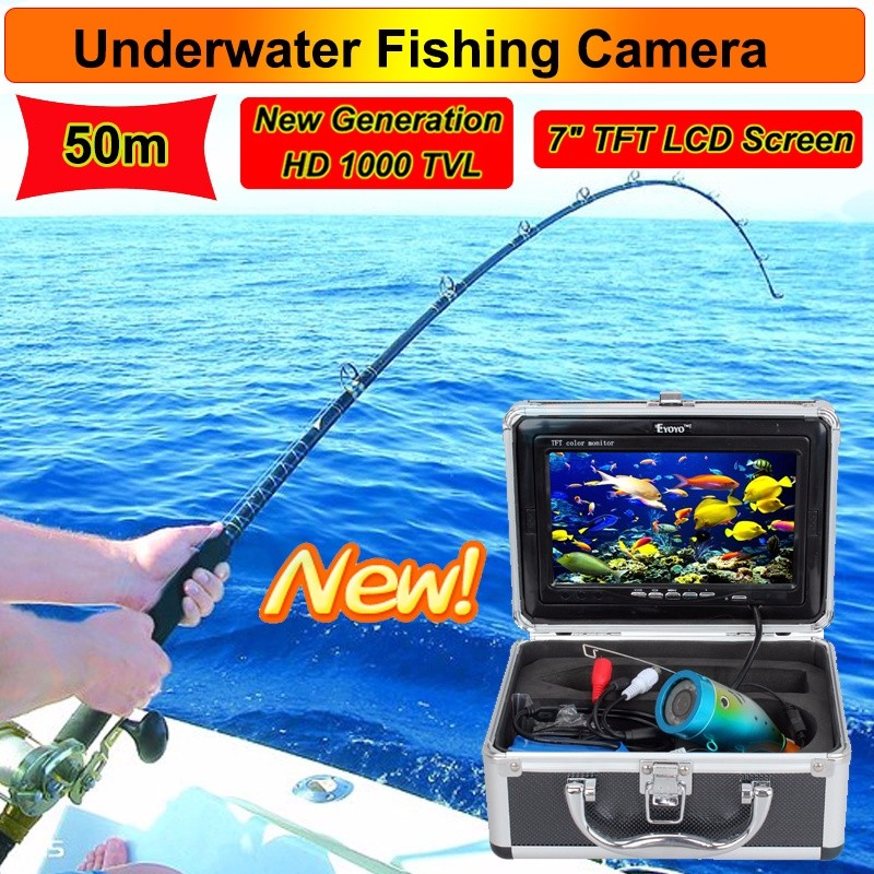 "EYOYO 7"" LCD HD Monitor Underwater 50M Fish Finder Ocean Ice Fishing Camera"