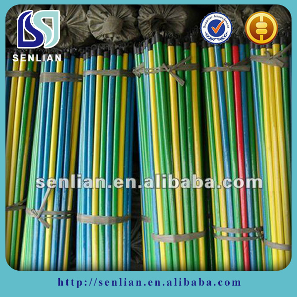 PVC coated Wooden Sweeping Broom Handle for Home and Hotel