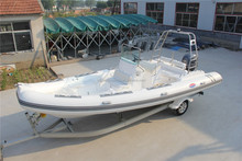 2017 inflatable rib luxury fiberglass boat for leisure rigid 8 person RIB yacht