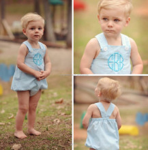 Wholesale boutique baby clothes baby boy seersucker bubble romper set