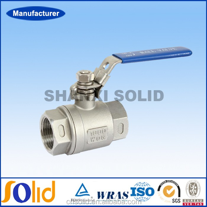 Two pieces stainless steel spring return metal seated ball valve