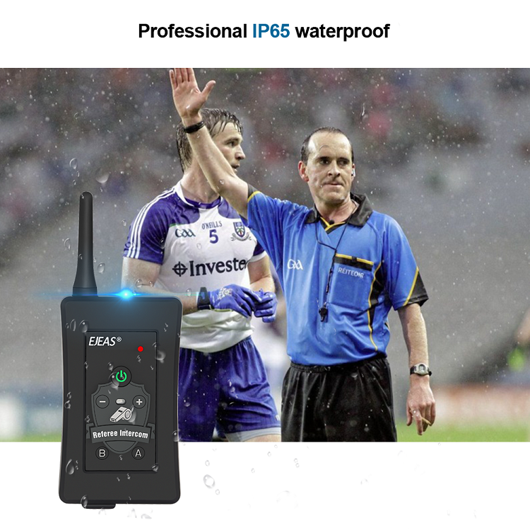 4 users noise cancelling full duplex Bluetooth system soccer football communication Intercom kit referee headset
