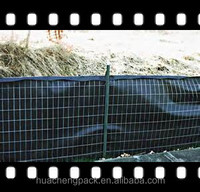 Black wire Silt fence with pp woven geotextile