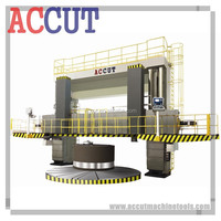 Large VTL Heavy Duty Machine/Machinery Vertical Turret Turning Lathe Machine with double column/double ram ACCUT VTL-130CNC