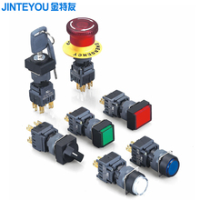 16mm IP65 Illuminated Momentary Plastic Push Button Switch