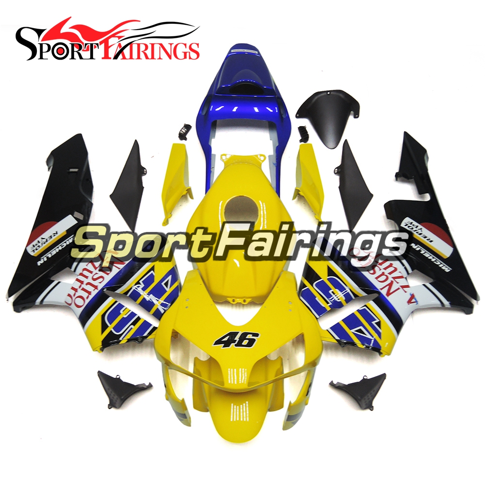 Yellow White Blue Injection ABS Plastic Fairings For Honda CBR600RR 03 04 Year 2003 2004 Complete Motorcycle Fairing Kits