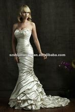 SJ1095 white new designlow price wholesale wedding dress 2012