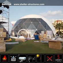 Outdoor large 25m UV resistant geodesic dome house tents for wedding party and catering events