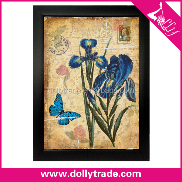 modern canvas orchid flower painting