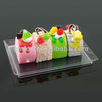 2013 hot sale pp ps popular food bread fruit vagetable salad square round new fashion disposable compartment plastic plate