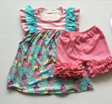Boutique Baby Girl Cartoons Frocks Design Lovely Girls Wholesale Children Clothing Sets