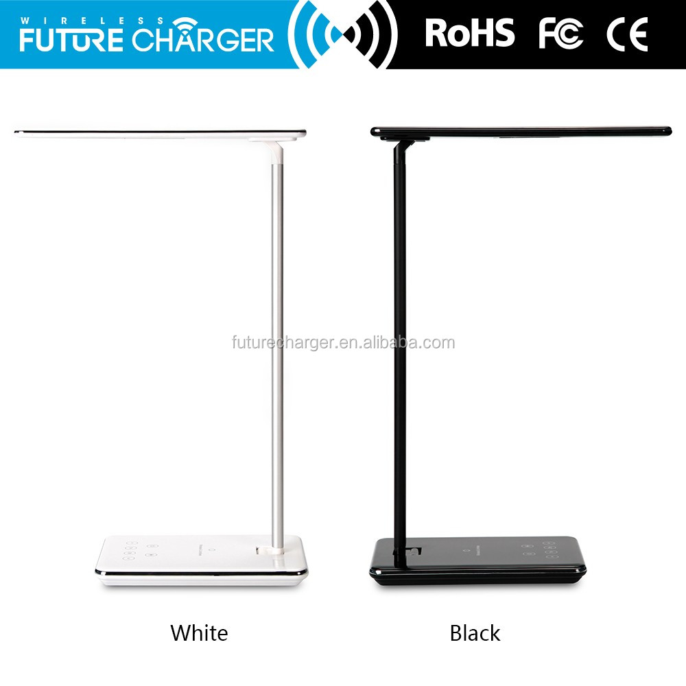 Eye Care LED Desk Lamp Qi Wireless Desktop Charger With LED Lamp,5V/1A Wireless Charging Output