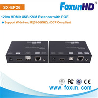 Foxun's 120m 1080p full hd transmitter and receiver, Extender over IP Lan KVM