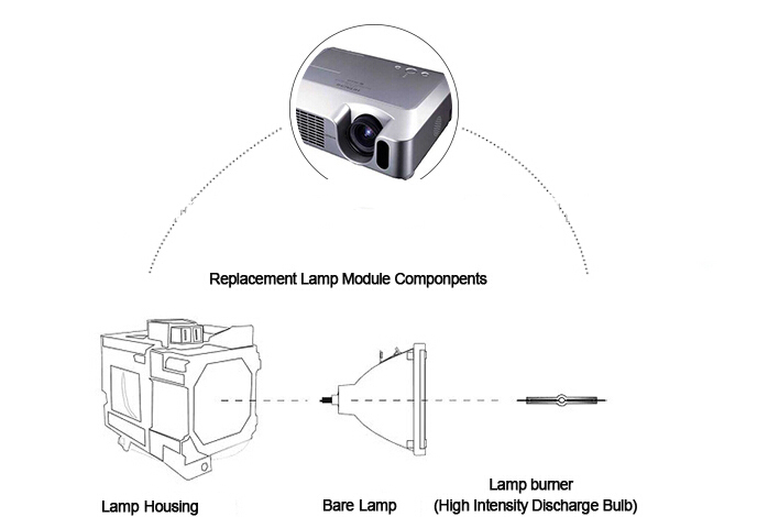 VT85LP / 50029924 Compatible Projector Lamp Bulb for NEC VT480 / VT490 / VT491 / VT580 / VT590 / VT595 / VT695 with housing