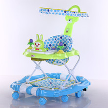 2017 CE certificate new model big rotating baby walker with canopy