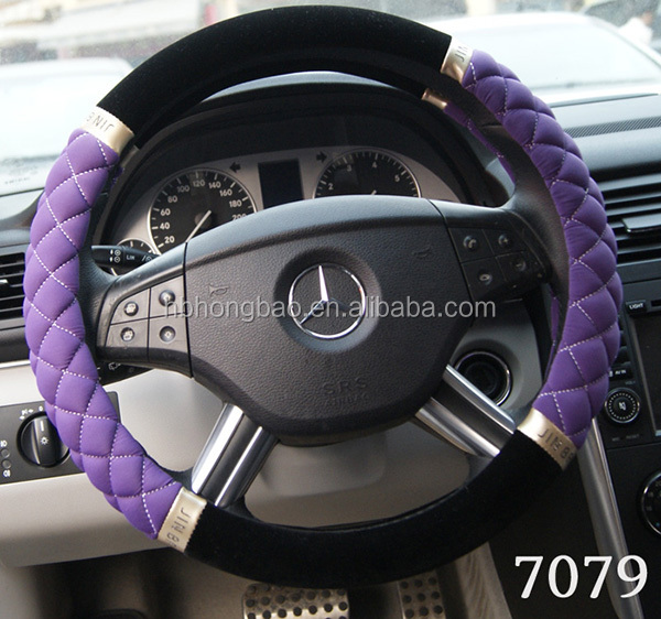 Low-key luxury diamond car steering wheel cover