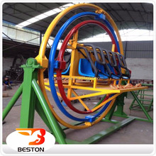 Funny indoor and outdoor amusement ride 3D human gyroscope uk / space ring for sale