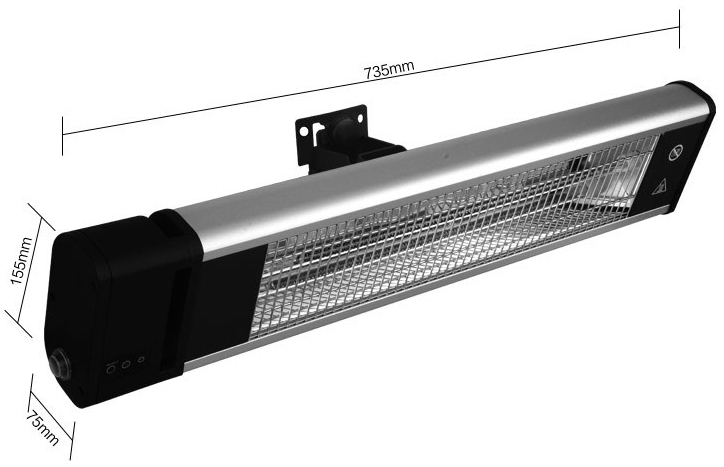 Scientec Electric Carbon Fiber Ceiling Mounted Radiant Heater