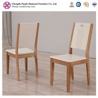 Cheap wood chair white and natural finish chair furniture dining