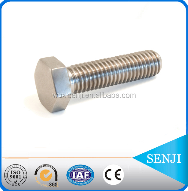 grade 8.8 high quality din931 mild steel hexagon fitted bolts with wide head