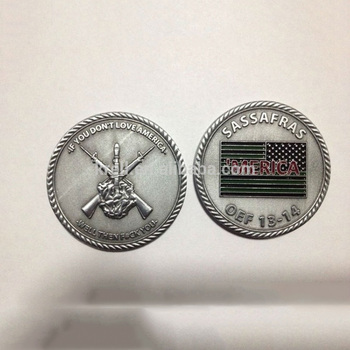 Custom country metal coin