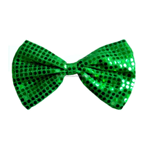 St. patrick's day flashing cheap green large bow ties