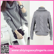 Women's casual winter clothing sexy appeal Oversized Knit Sweater