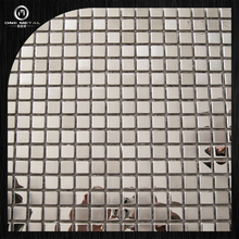 One matal 304 sliver mirror and satin finish stainless steel tile