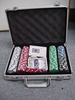 Aluminum poker chip set for casino,hard 100pcs poker set in aluminum box