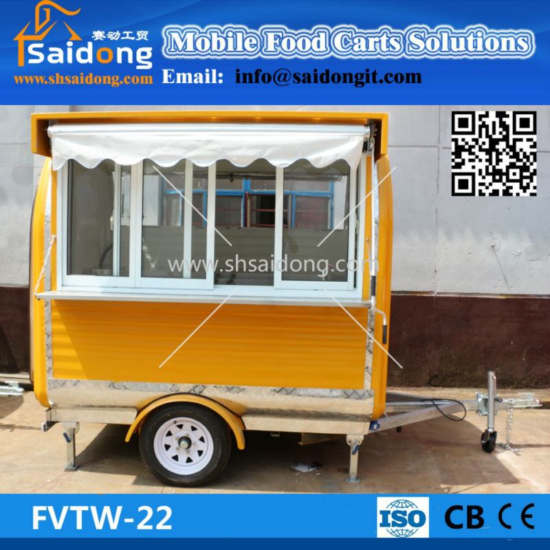 Fashionable kebab wagon food bike cart catering van pancake trailers mobile ice cream kiosk