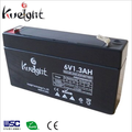 6V 1.3Ah Portable small lead acid agm battery with good price