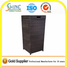 Cheap Wholesale Furniture, Rattan Outdoor Trash Bin, Waste Bin