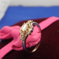 Hot selling custom wedding ring rose gold plated