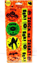 6 Childrens Halloween Safety Stickers Trick or Treating Reflective Stickers NEW