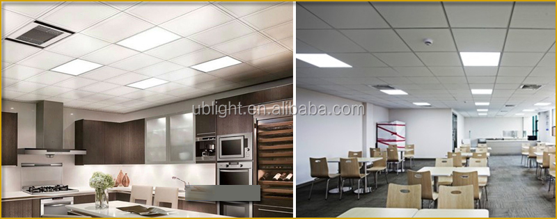Super bright square 600*600 AC100-240V warm white pure white 110lm/W led ceiling office panel lighting with low electricity cost