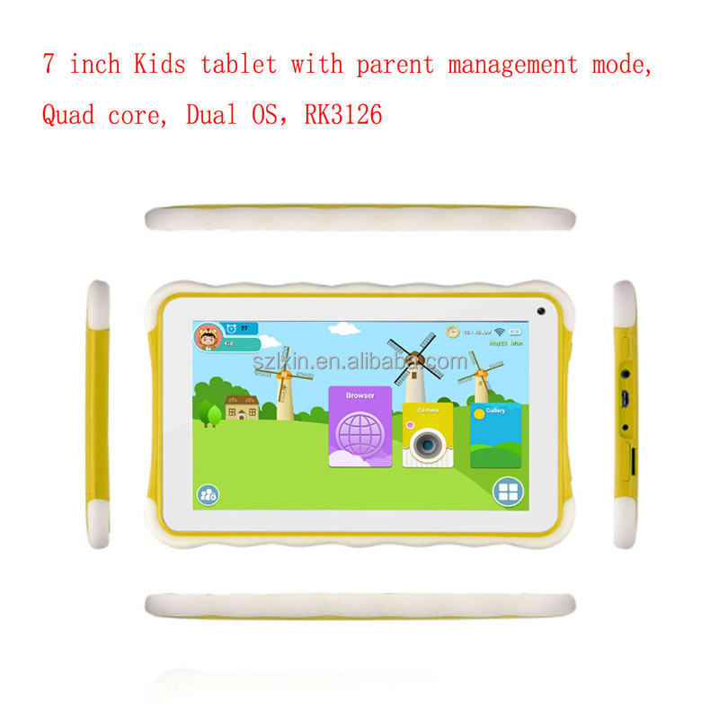 Quad core Dual OS certificate android Kids tablet