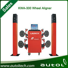 Launch KWA-300 3D Wheel Aligner capable of convenient alignments with real time adjustment of front and rear wheels