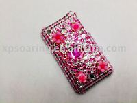 pink Rhinestone crystal hard case back cover for iphone 3G,3GS