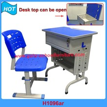 metal frame student desk steel school furniture lock study desk