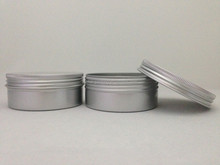 seamless travel tin, shallow tin, round aluminium tin