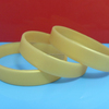 Bright Gold Plain Silicone Bracelets