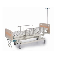 hot sale single Cranks manual hospital adjustable clinic medical bed hand operated