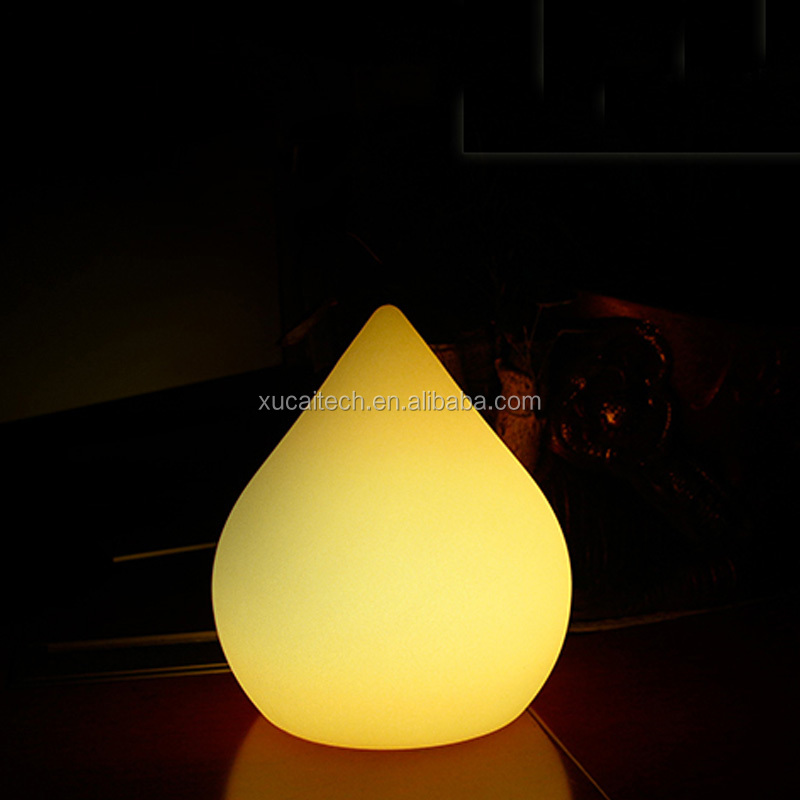 Colorful Control Remote Wireless Rechargeable Decorative Cordless Table Lamps With Peach Shape