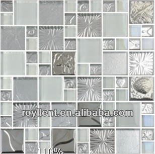 round blue glass mosaic tile
