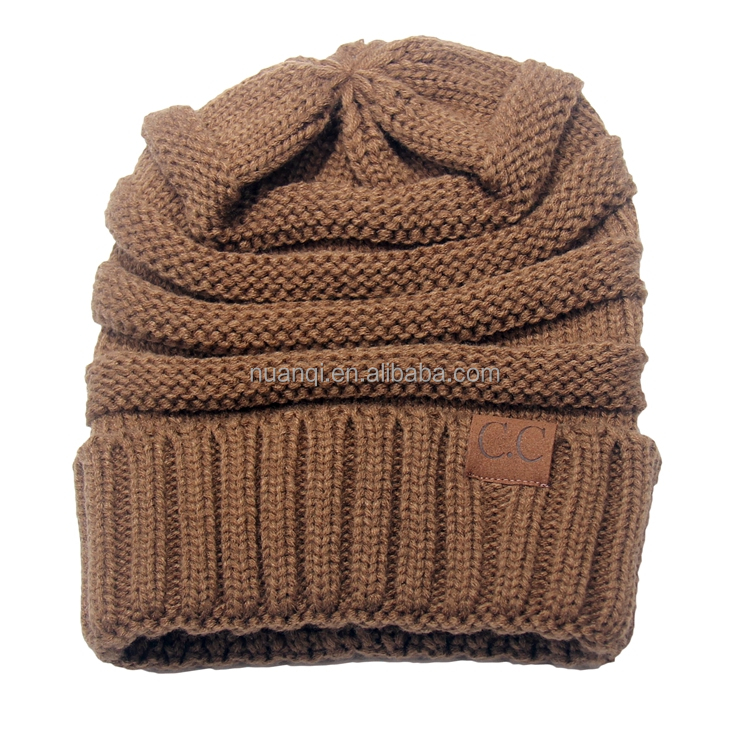 13 Colors Available--Trendy Winter Warm Chunky Soft Stretch Cable Knit Slouchy Beanie